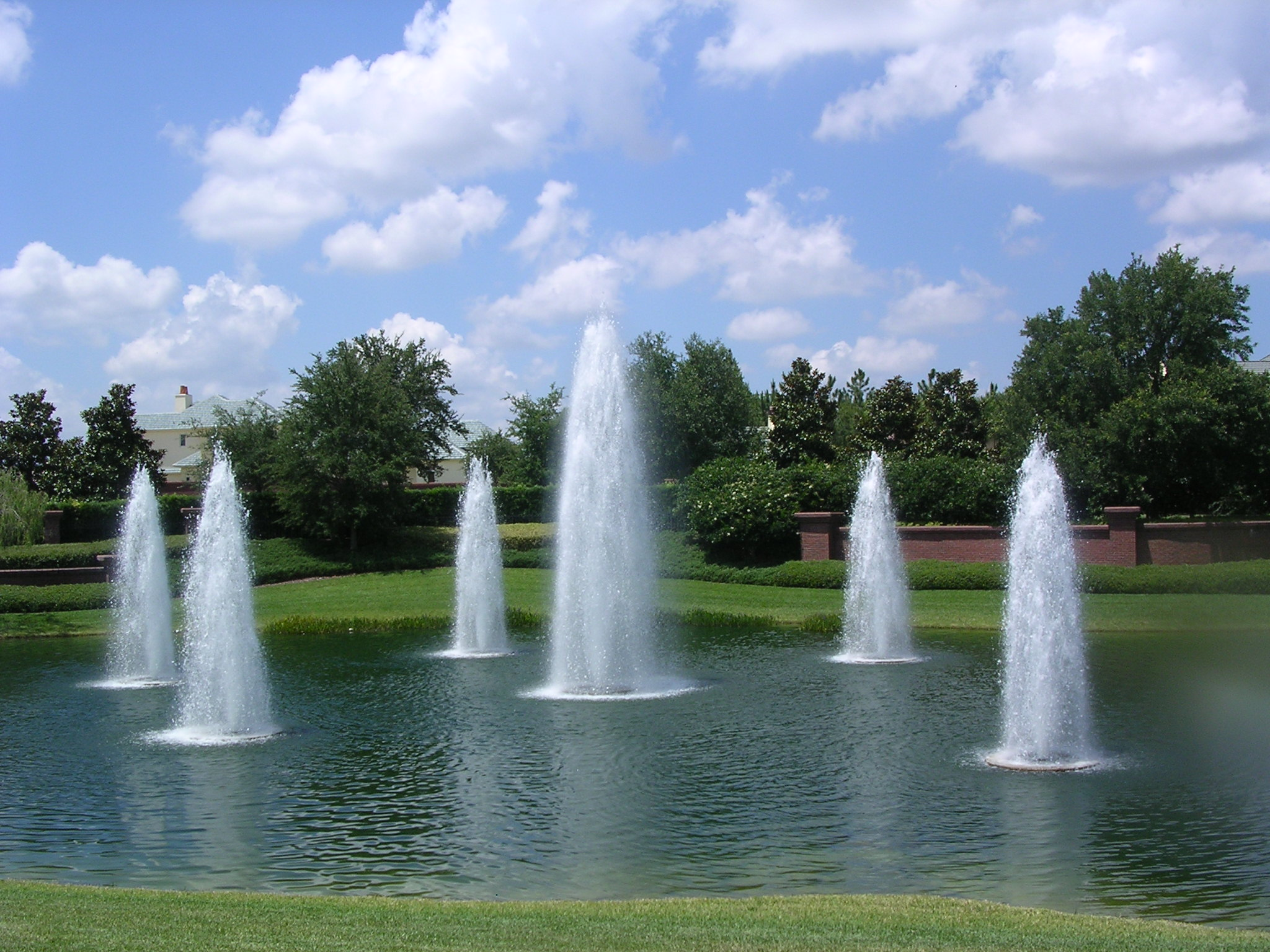 Image gallery lake fountains for Pond with fountain
